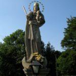 Socha Panny Marie v místní části Bystré