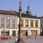 Morový sloup Panny Marie – nechal postavit farář Jakub Valentin Palička 6. 5. 1692.  - frenštátské náměstí.